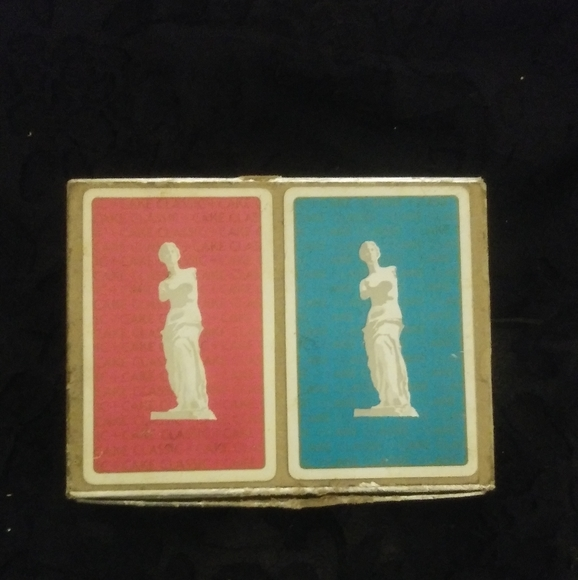 Vintage Congress Playing Cards statue